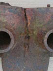 Part No. 1940 International W6/Farmall M manifold, cracked needs repairing, metal sound £120 + VAT & Carriage